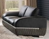 Modern Italian Leather Loveseat ESF8001L