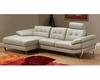 Modern Italian Sectional Leather Set in Grey Finish 33LS151