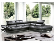 Modern Italian Style Leather Sectional Sofa 44L6076
