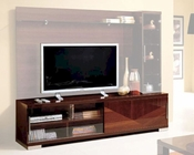 Modern Italian TV Stand in Walnut Finish 33E12