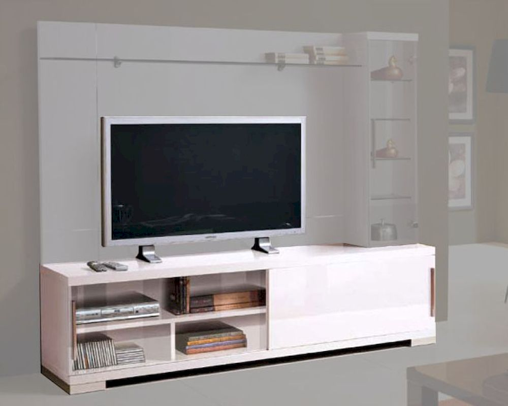 Modern italian tv stand in white 33e22 White tv console