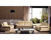 Modern Khaki Leather Sofa Set 44L6042