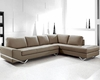 Modern Latte Leather Sectional Sofa Set 44L0744S