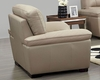Modern Leather Chair in Beige Color ESF8052C