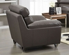 Modern Leather Chair in Grey Color ESF8049C
