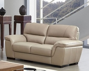Modern Leather Loveseat in Beige Color ESF8052L