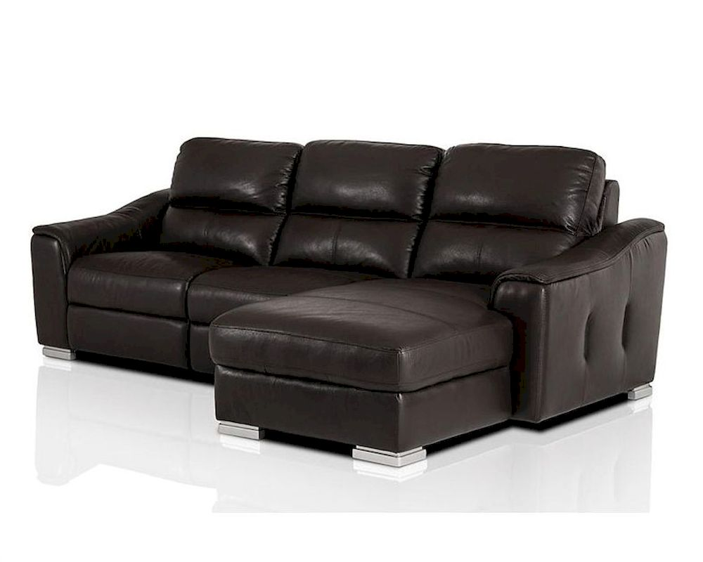 modern leather recliner sectional sofa 44l5987. Black Bedroom Furniture Sets. Home Design Ideas