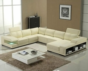Modern Leather Sectional Sofa Set 44LT132