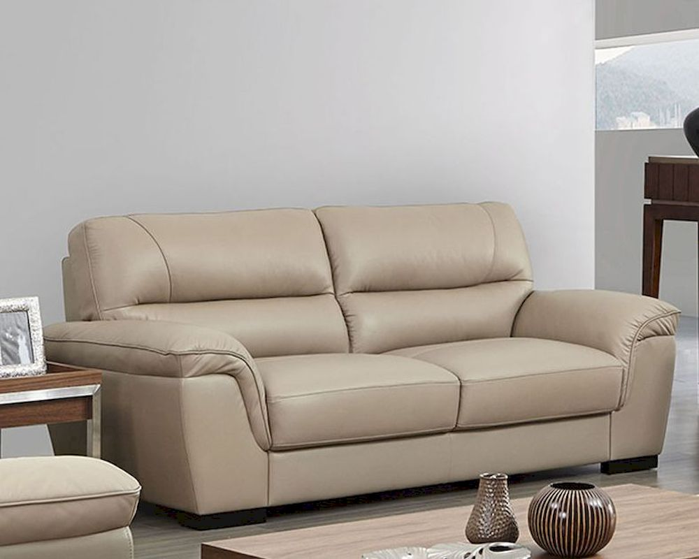 Attractive Modern Leather Sofa In Beige Color ESF8052S