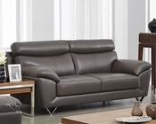 Modern Leather Sofa in Grey Color ESF8049S