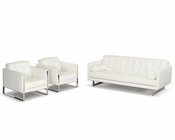Modern Leather Sofa Set 44L6017