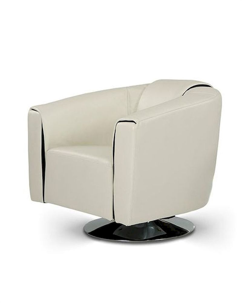 Modern leatherette swivel lounge chair 44o1280 for Modern swivel chair