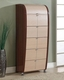 Modern Made in Italy Two Tone 5 Drawer Chest 44B4219
