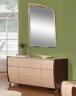 Modern Made in Italy Two Tone Dresser with Mirror 44B4214