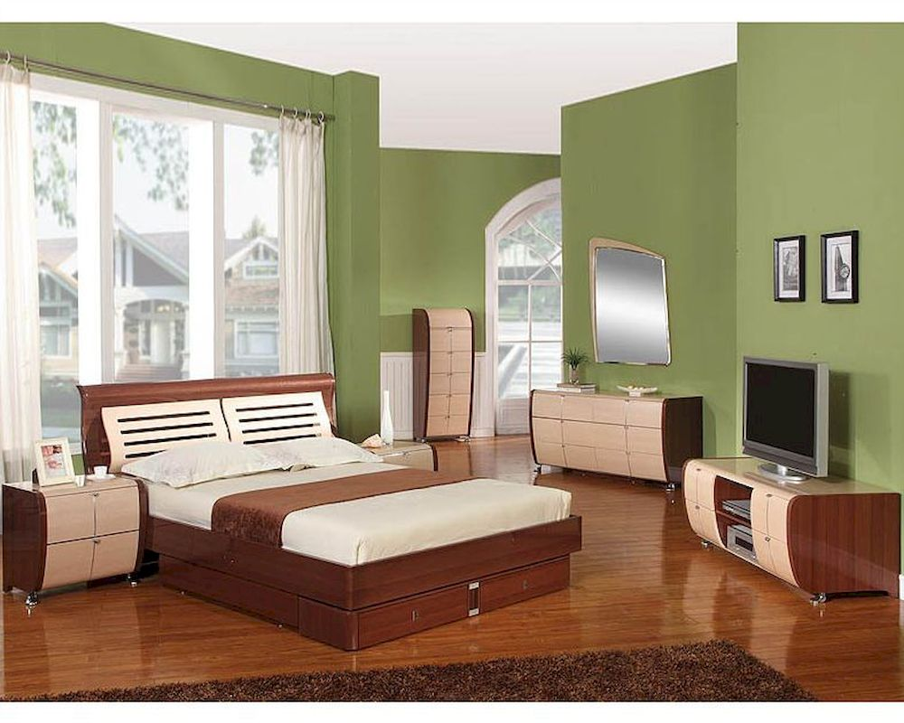 italian modern bedrooms modern made in italy two tone storage bedroom set 44b4211 11906