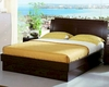 Modern Made in Italy Wenge Finish Storage Bed 44B5812