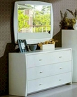 Modern Made in Italy White Finish Dresser with Mirror 44B5814W