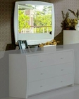 Modern Made in Italy White Finish Mirror 44B5816W