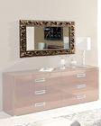 Modern Mirror in Antique Gold Finish 33B146