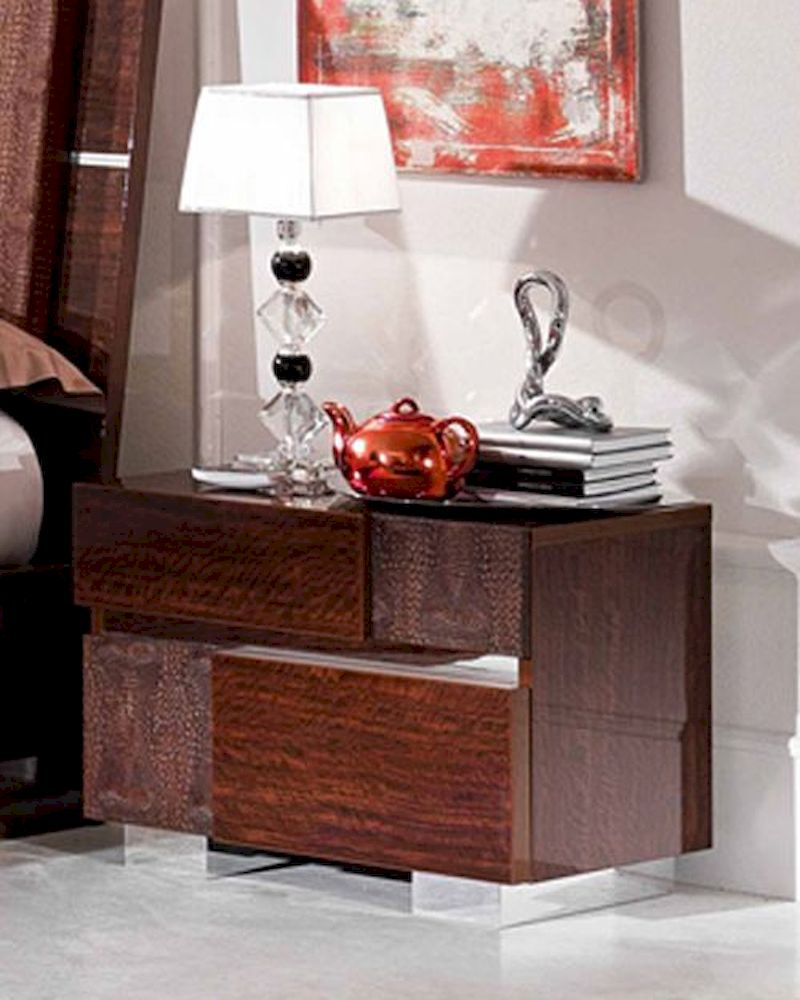 Modern night stand caprice european design made in italy for Design made in italy