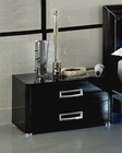 Modern Night Stand in Black Made in Italy 33B93