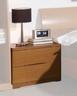 Modern Night Stand in Light Cherry Finish Made in Spain 33B203