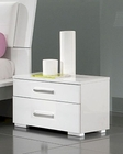 Modern Night Stand in White Made in Italy 33B73