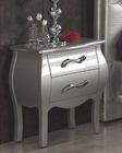 Modern Night Stand Lolita in Silver Finish Made in Spain 33B283