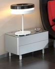 Modern Night Stand Manuela in Silver Finish Made in Spain 33B363