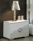 Modern Night Stand Valencia in White Made in Spain 33B243