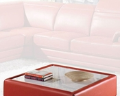 Modern Ottoman in Orange Finish 33LS42