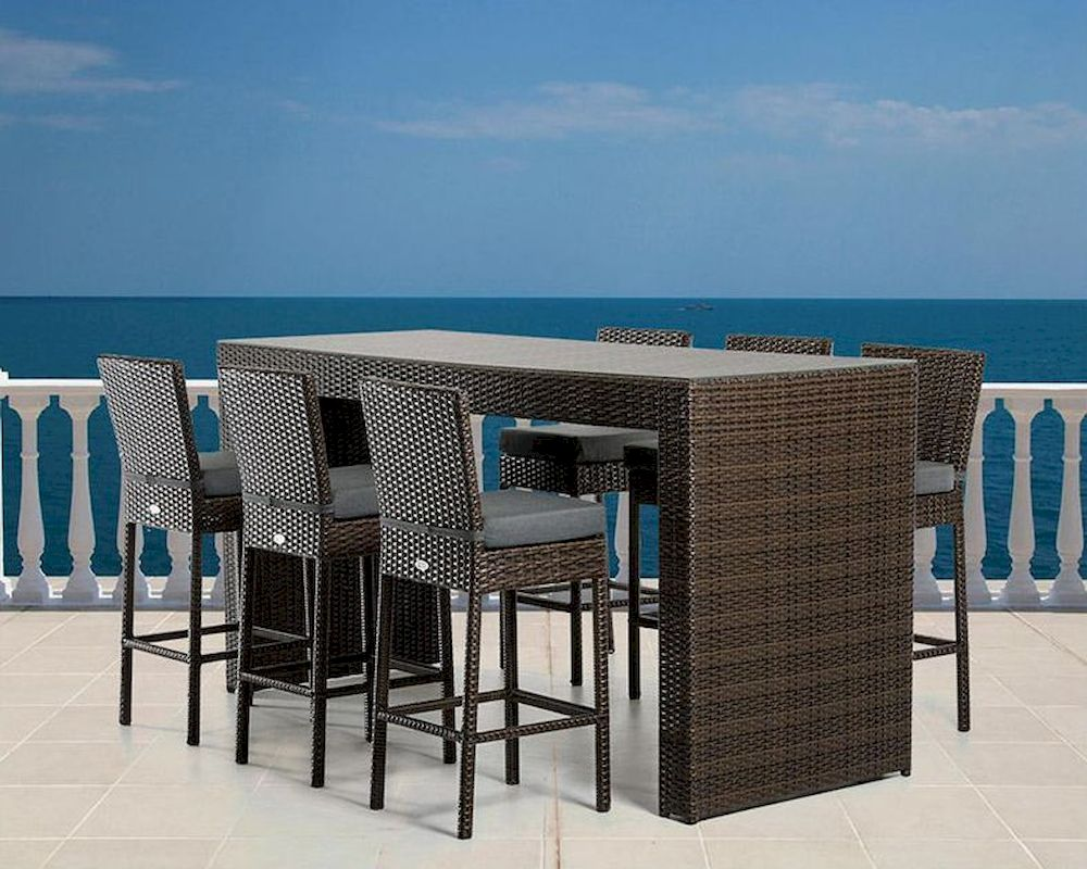 modern outdoor bar table set 44p464 set. Black Bedroom Furniture Sets. Home Design Ideas