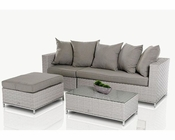Modern Outdoor Patio Set w/ Ottoman and Table 44P220-SET