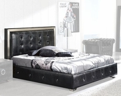 Modern Platform Bed Valencia in Black Made in Spain 33B252