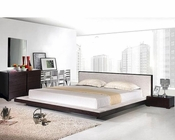 Modern Platform Bedroom Set in Wenge Finish Made in Italy 44B2111