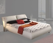 Modern Platform Storage Bed Monica in White Made in Spain 33B322