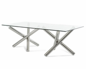 Modern Rectangular Glass Dining Table 44D08L