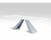 Modern Rectangular White High Gloss Dining Table 44DCT8958-SET