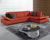 Modern Red Bonded Leather Sectional Sofa Set 44LK8382