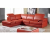 Modern Sectional Set and Ottoman in Orange Finish 33LS41