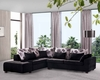 Modern Sectional Set with Sleeper Sofa and Storage Chaise 33LS61