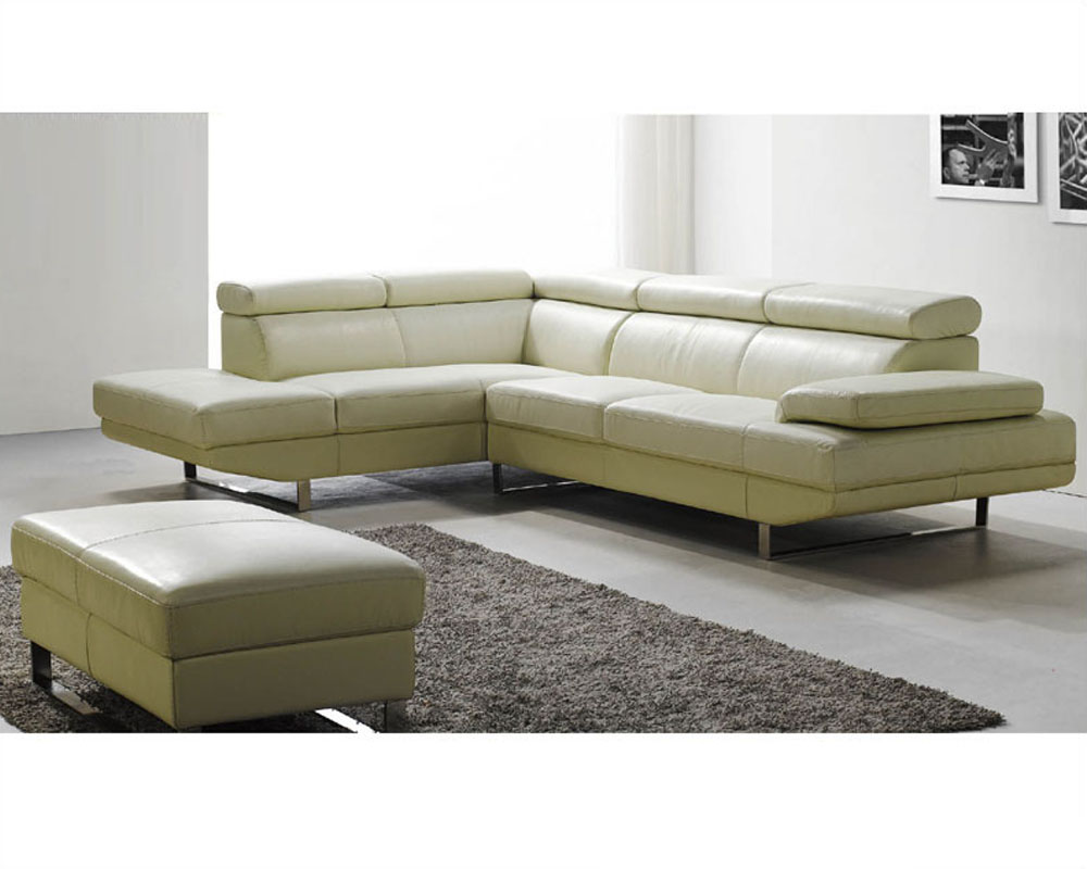 Modern sectional sofa set in off white finish 33ls21 for Modern sectional