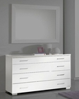 Modern Single Dresser in White Made in Italy 33B75