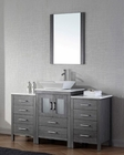 Modern Single Grey Bathroom Set Dior by Virtu USA VU-KS-70060-S-ZG