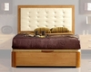 Modern Style Bed in Maple Finish Made in Spain 33B22