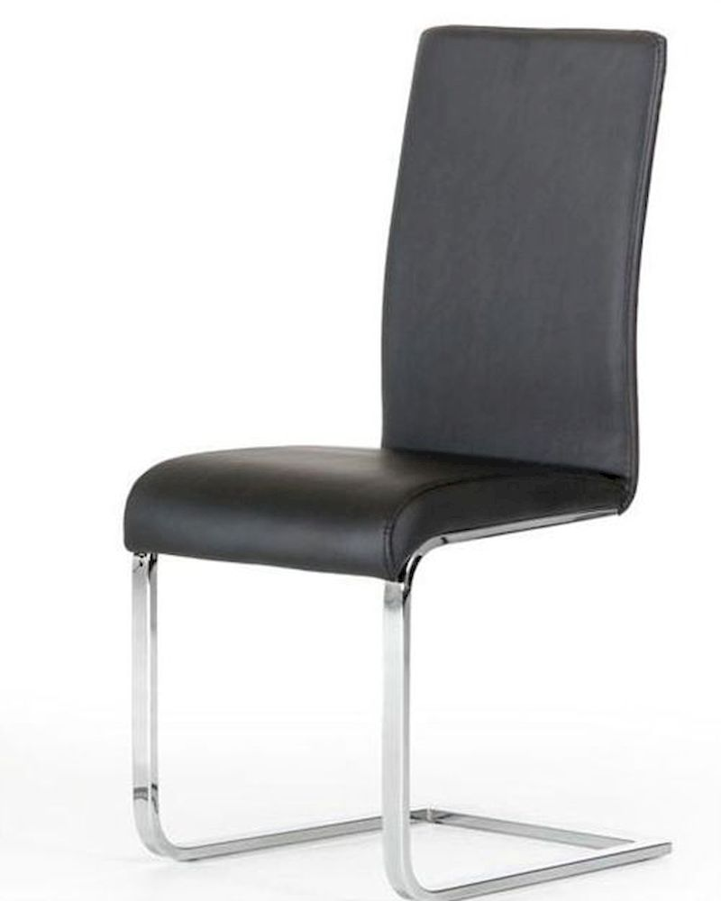 Modern style black dining chair 44d801 set of 2 for Modern black dining chairs