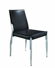 Modern Style Black Leatherette Dining Chair 44DY73 (Set of 2)