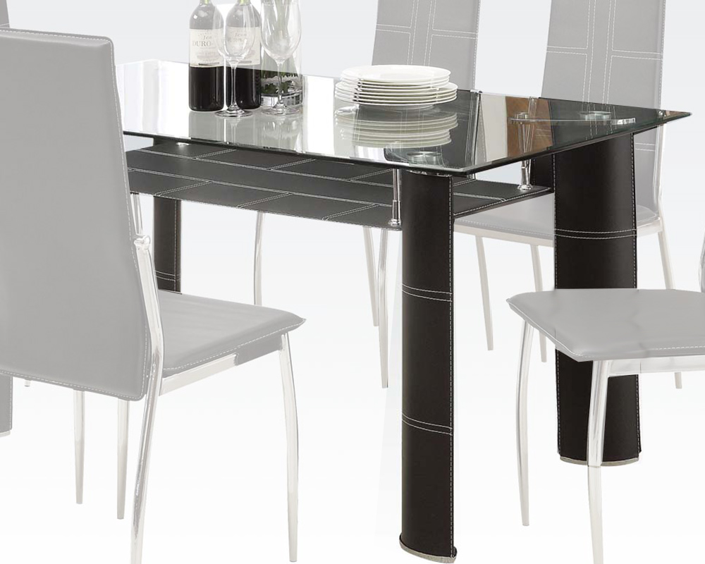 Modern style dining table riggan by acme furniture ac70200a for New style dining table