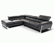 Modern Style Italian Leather Sectional Sofa 44L6072