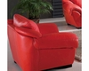 Modern Style Living Room Chair in Red Finish 33SS424